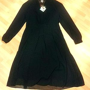 NWT Anne Klein BLK/Juniper Dress, Size 16